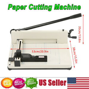 Heavy Duty Guillotine Paper Cutter 12 Commercial Steel A3 a4 Trimmer Us Stock