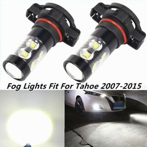 2x 100w Led Fog Lights For Chevy Tahoe 2007 2008 2009 2015 6000k White Bulb Lamp