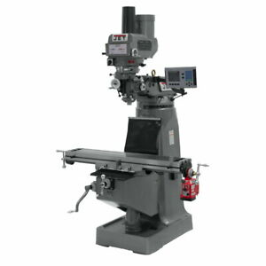 Jet 690125 Jtm 4vs Mill Acu rite 200s Dro X axis Powerfeed And Power Draw Bar