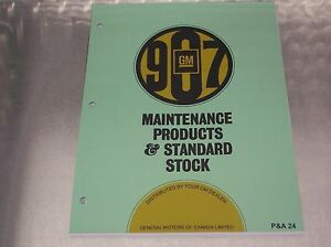 69 70 71 72 Gm Standard Stock Service Parts Catalog