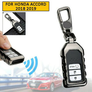 For Honda Accord 2018 2019 Car Key Cover Case Holder Protector Accessories Black