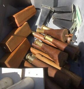 Vintage Lot Mid Century Modern Tapered Wood Table Furniture Legs