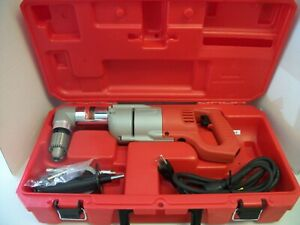 Milwaukee 1107 1 1 2 Corded Right Angle Drill W Case Euc