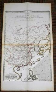 Xrare 1780 Map Of Asia By M Bonne Hand Colored China Tibet Korea Japan