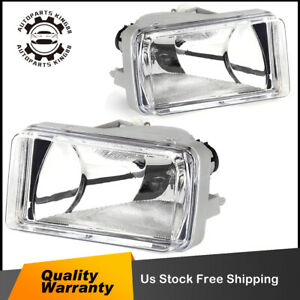 For 2007 2013 Chevy Silverado 1500 2500 3500 Hd Tahoe Bumper Fog Lights W Bulbs