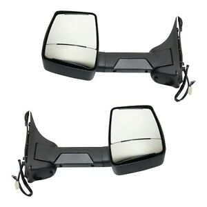 Power Towing Mirror Set Of 2 For 99 2015 Ford E 350 Super Duty Heated Folding