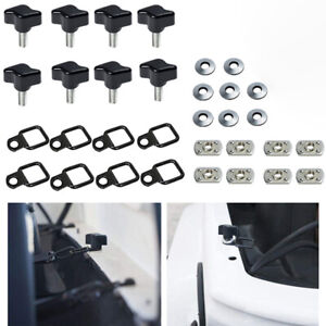Hard Top Thumb Screw Nut Washer Bolts For Jeep Wrangler Yj Tj Jk Jl Freedom Pack