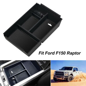 Center Console Storage Organizer For Ford F 150 2009 2014 Car Armrest Tray Black