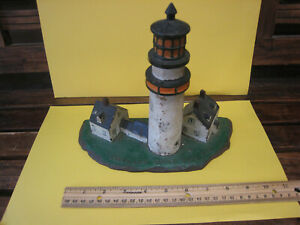 Authentic Vintage Highland Light Cast Iron Doorstop Light House Cape Cod