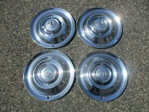 Genuine 1955 Dodge Royal Lancer Coronet Meadowbrook 15 Inch Hubcaps Wheel Covers