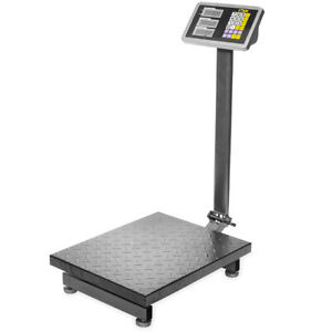 600lb Weight Digital Computing Scale Floor Platform Warehouse Shipping Postal