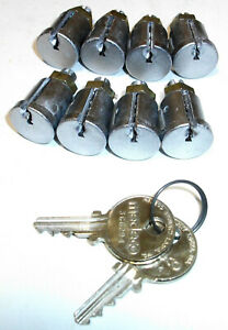Medeco Coin op Lock Cylinder Removable Core Cam 8 Matching Key Alike 2 Keys New