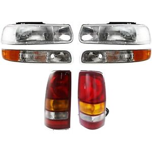 New Auto Light Kit Driver Passenger Side For Chevy Lh Rh Silverado 1500 2500