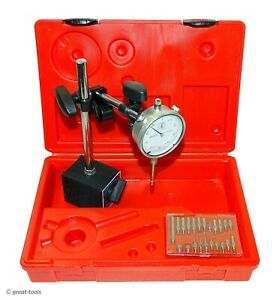 Dial Indicator Set W Magnetic Base Points Machinist Tools Measuring Tool