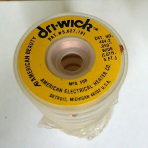 Desoldering Copper Braid Solder Remover Cleaner Wick 050 Inch Wide Yellow 50 Ft