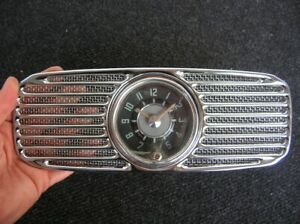 Vw Oval 8 Day Clock Vdo New Perohaus Grill Accessory Wind Up Working