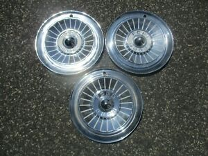 Lot Of 3 Factory 1957 Ford Fairlane 14 Inch Hubcaps Wheel Covers