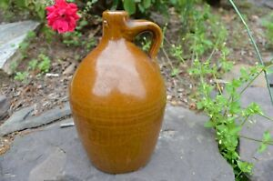 Small Stoneware Beehive Shaped Jug Middle Seam Glazed