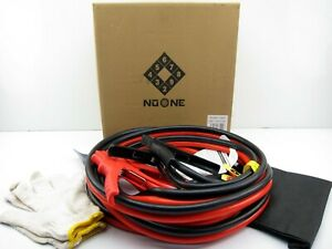 Noone 2 Gauge 20 Foot Booster Jumper Cables 800a Built In Led Lights Heavy Duty