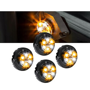 4pc Lamphus Snakeeye Iii Led Hideaway Strobe Light Sae Class1 Ip67 Amber White