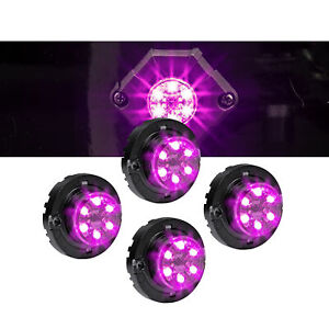 4pc Lamphus Snakeeye Iii Led Hideaway Strobe Light Sae Class1 Ip67 Purple