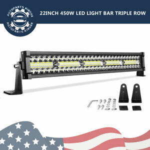 22 inch 450w Led Light Bar Spot Flood Combo Offroad Truck Ute Atv Suv 4x4 24