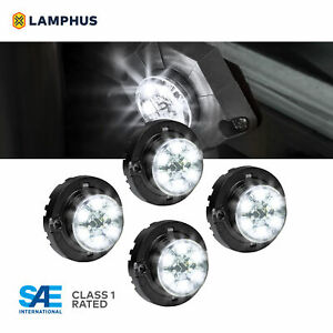 4pc Lamphus Snakeeye Iii Led Hideaway Strobe Light Sae Class1 Ip67 White