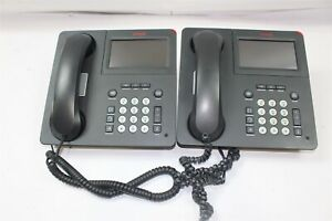 Lot Of 2 Avaya 9641g Digital Voip Business Phone W Stand 700480627