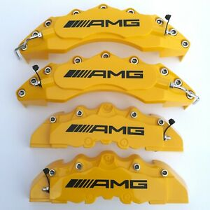 Yellow Amg Brake Caliper Cover 4pcs Set For Mercedes Benz 11 F9 R Plastic
