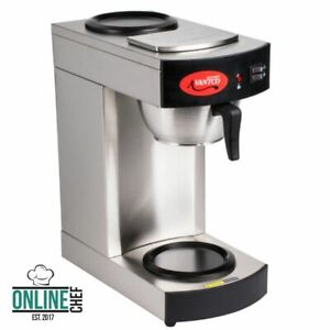 New Avantco Commercial Coffee Maker Machine 2 Pot Warmer Pourover 12 Cup Brewer