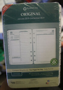 2019 Franklin Covey Classic Original Two Page Per Day Planner Refill