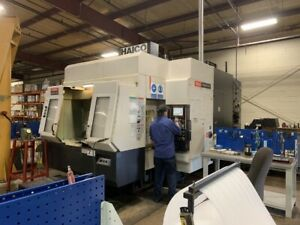 Used Mazak Variaxis 730 5x Cnc Vertical Mill 2005 Fusion 5 axis Cat 50 2 Pallets