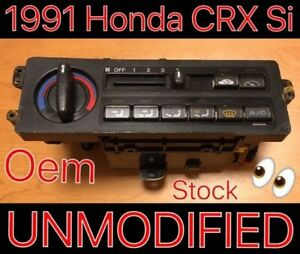1991 Honda Crx Si Climate Control Heater Assembly Switch 88 89 90 91 Hf Dx Rare