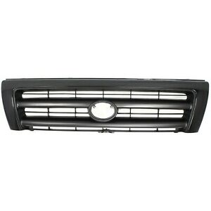 Grille For 98 2000 Toyota Tacoma Black Plastic