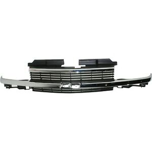Grille Assembly For 1998 2004 Chevrolet S10 Horizontal Bar Insert
