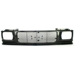 Grille For 91 93 Gmc Sonoma 92 94 Jimmy Textured Black Plastic