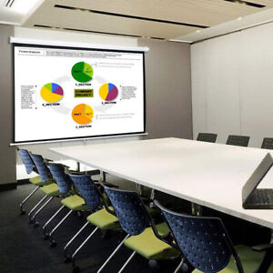 100 Pull Down Manual Projector Screen 4 3 Meeting Room Home Hd Movie Projection