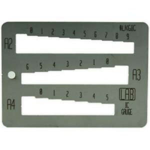 Interchangeable Core Key Gauge Small Stainless Steel 3 3 4 X 2 For A2 a3 a