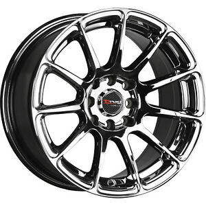 15x7 5 Chrome Drag Dr66 Wheels 4x100 4x4 5 10 Fits Ford Mustang 4 Lug Only