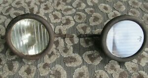 Original Ford Model T Headlight Lamp Bucket Assembly Housing Pair