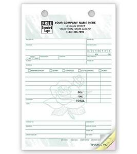 Nebs Deluxe 672t Florist Register Forms Large Classic 5 5 X 8 5