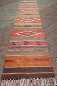 Vintage Turkish Kilim Runner Rugs Carpet Runner 21 2 X92 1 Hallway Rug Corridor