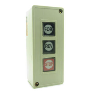 Push Button Switch For Forward Rev Reverse Stop 3 Buttons Direction Control Box