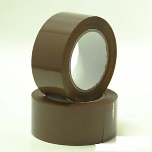 6 X Brown 2 65 Yard 197ft Packaging Tape Roll Cartoon Box Sealing Packing