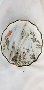 Superb Antique Japanese Hand Painted Signed Saucer