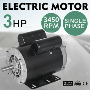 3hp Spl 1 Phase Electric Air Compressors Duty Motors 56 Frame 5 8 Shaft 3450rpm
