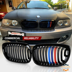 Gloss Black M color Front Kidney Grill For Bmw E46 325ci 330ci 2dr Lci 2003 2006
