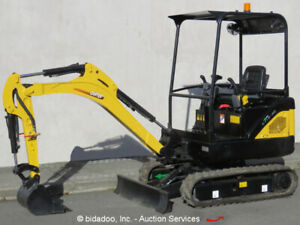 2017 Carter Ct18 9ds Mini Excavator Aux Hyd Extendable Tracks Perkins Blade New
