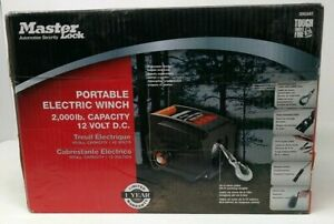 Master Lock Portable Electric Winch 12v Dc 2953at