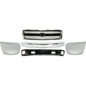 Bumper Kit For 2012 2013 Chevy Silverado 1500 Front With Air Intake Hole 5pc